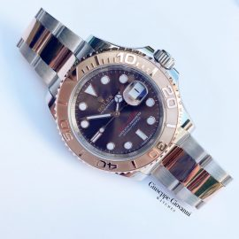 1 Rolex Yacht Master 116621 Rose Gold Oystersteel Chocolate Dial 2018