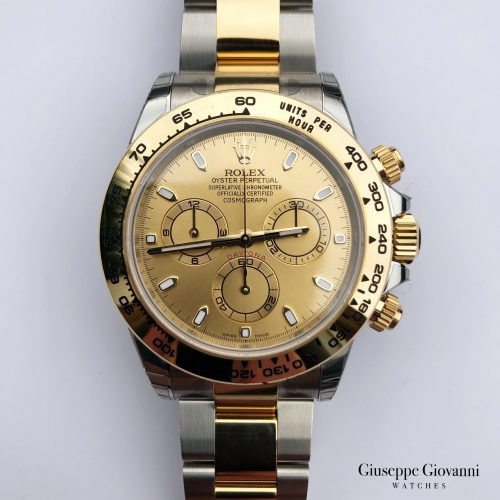 Rolex Daytona 116503 Yellow Gold Oystersteel OysterBracelet Champagne Dial 2018 1