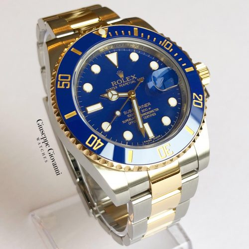 Rolex Submariner 116613LB Yellow Gold Oystersteel Oyster Bracelet Flat Blue Dial 1