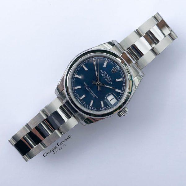 Rolex Date Just 31 178240 Blue Dial Oyster Steel Oyster Bracelet Domed 2020 1
