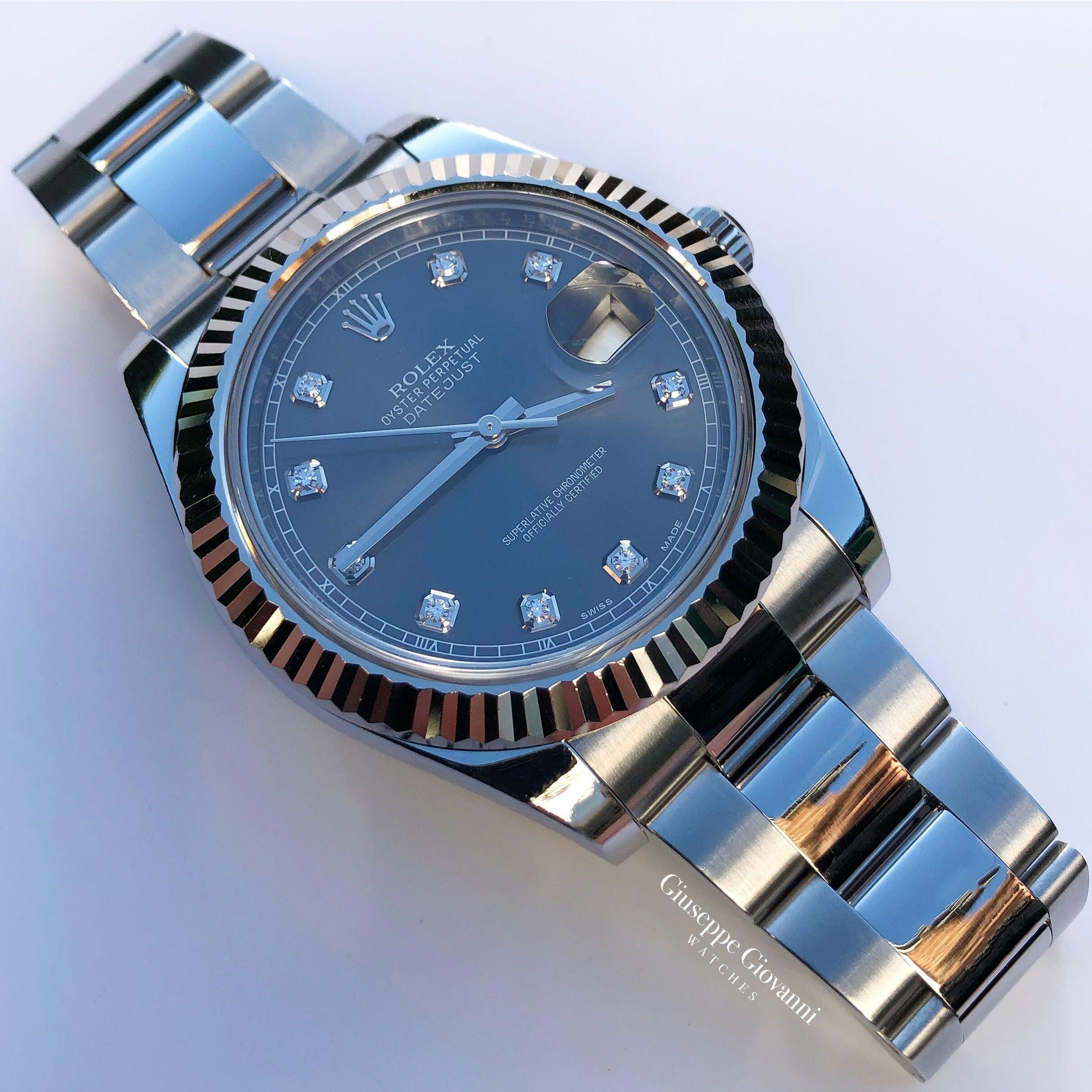 Rolex DateJust41 116334 Oystersteel RhodiumDiamondDial OysterBracelet 1