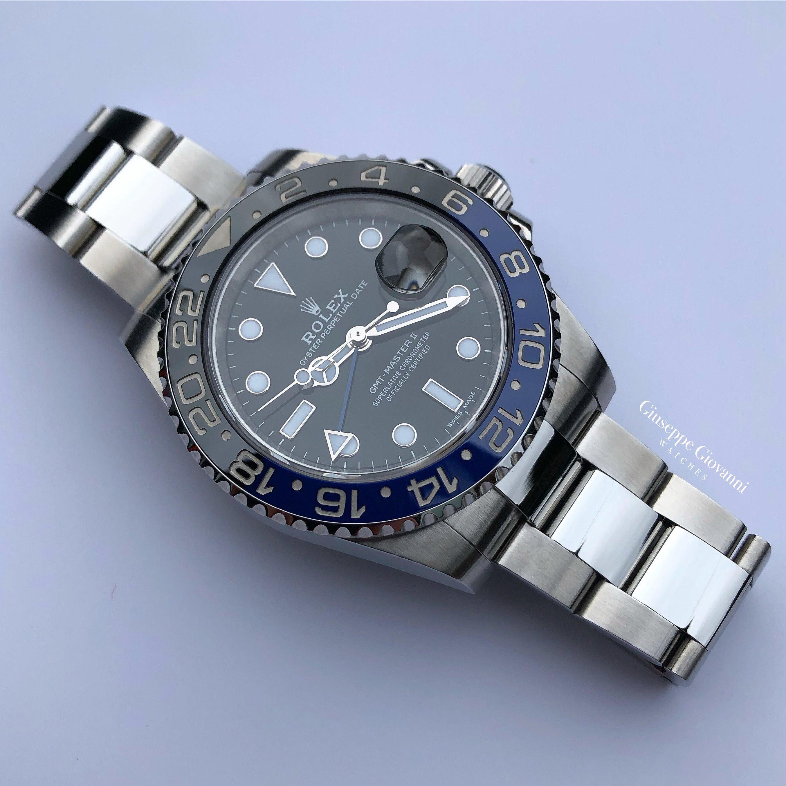 Rolex GMT 116710BLNR Oystersteel BlackDial OysterBracelet Batman