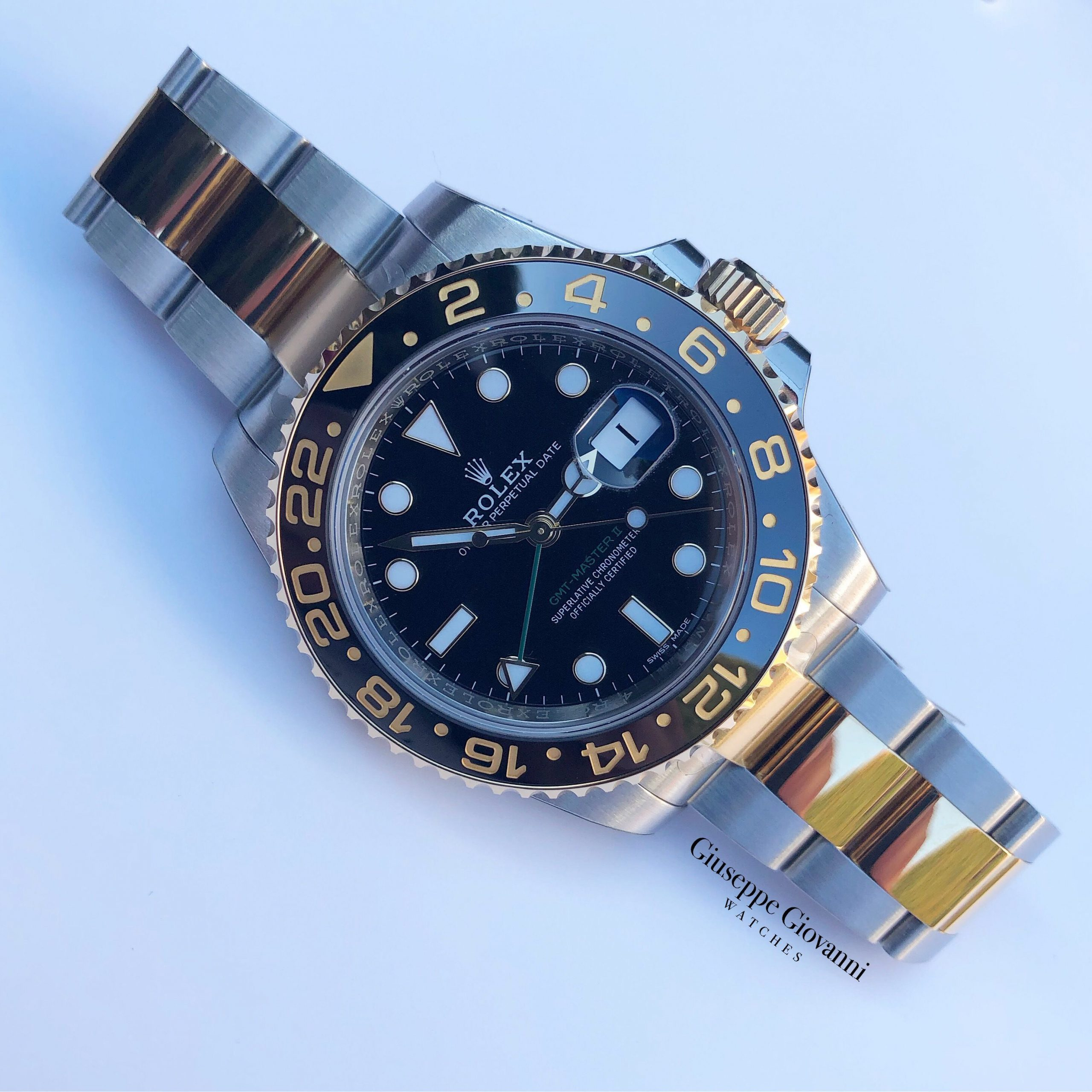 Rolex GMT 116713LN Yellow Gold Oystersteel Oyster Bracelet Black Dial 2018 1