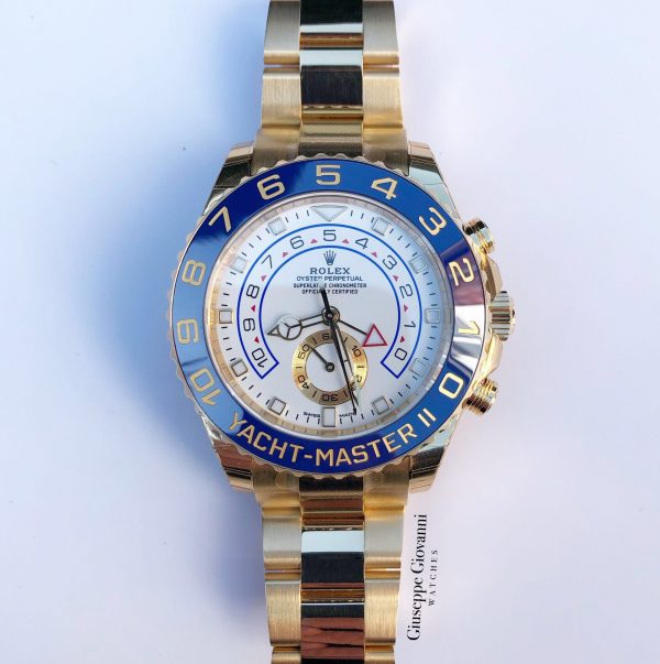 Rolex Yacht Master 116688 Yellow Gold Oyster Bracelet White Dial 2019 1