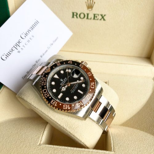 Rolex GMT 126711CHNR EveroseGoldOystersteel OysterBracelet BlackDial 2019 2