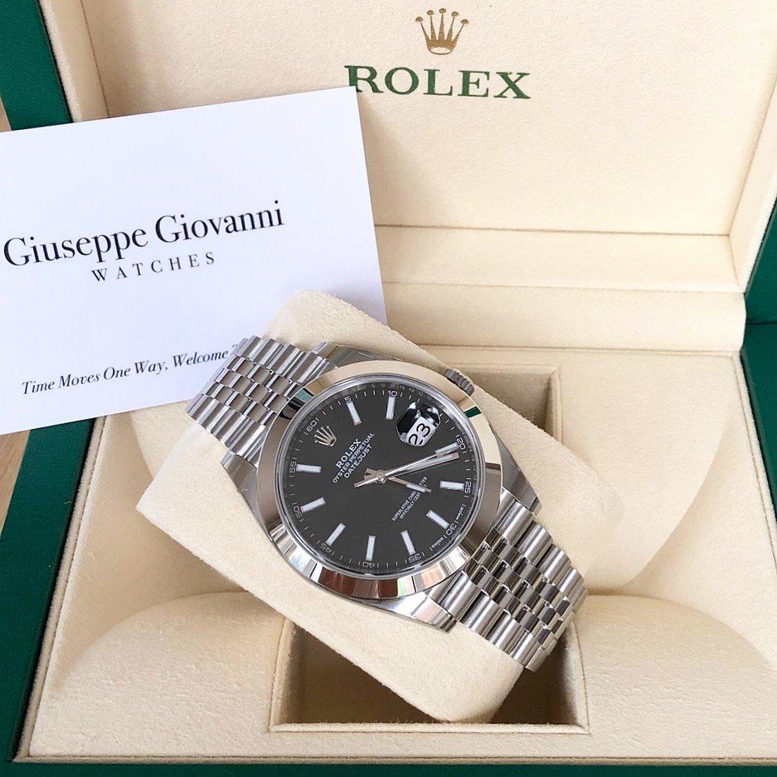 Rolex DateJust41 126300 Oystersteel BlackDial JubileeBracelet Year2018