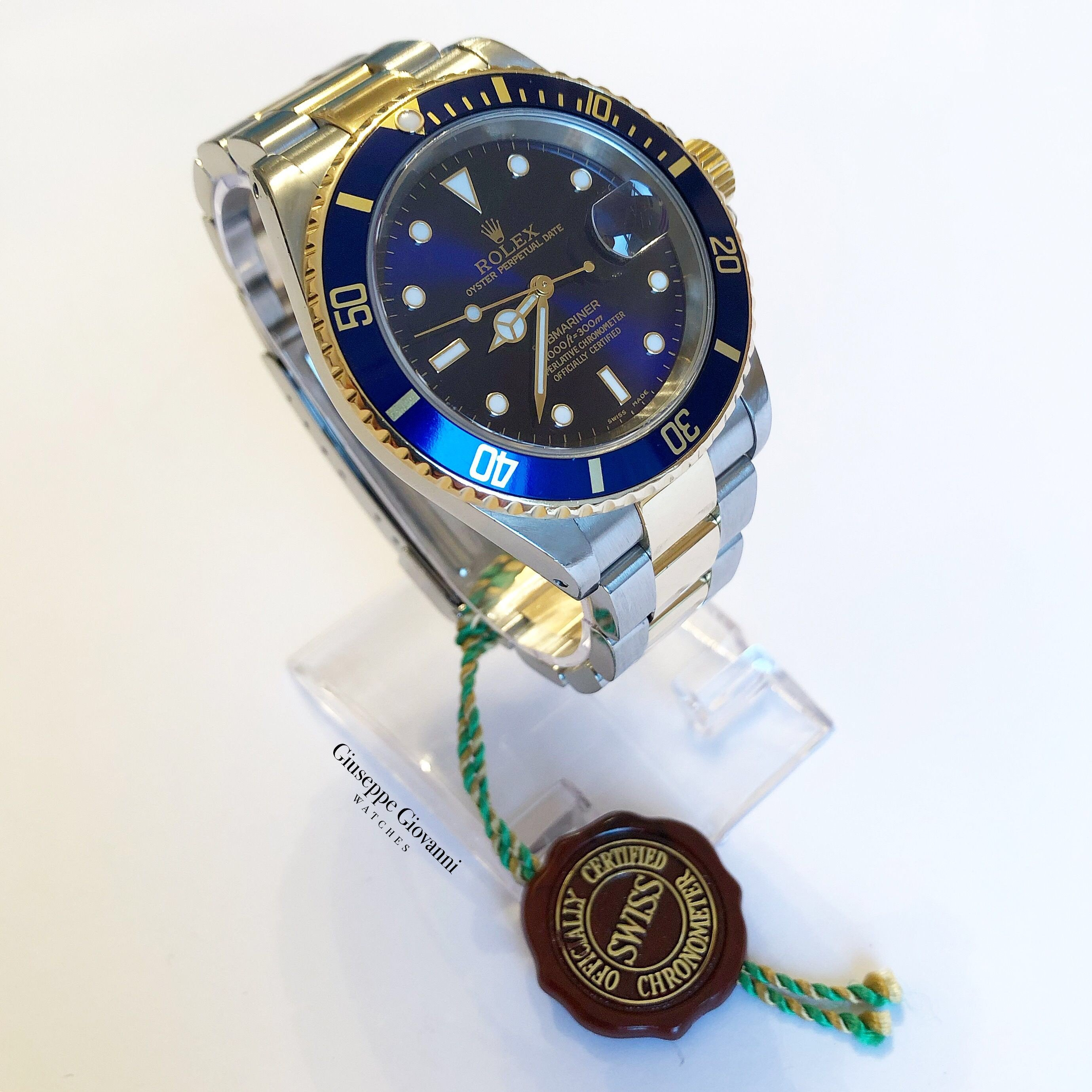 Rolex Submariner 16613 YellowGoldOystersteel OysterBracelet BlueDial 1