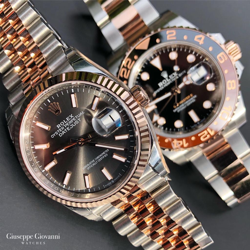 Rolex DateJust GMT EveroseGoldOystersteel Sell