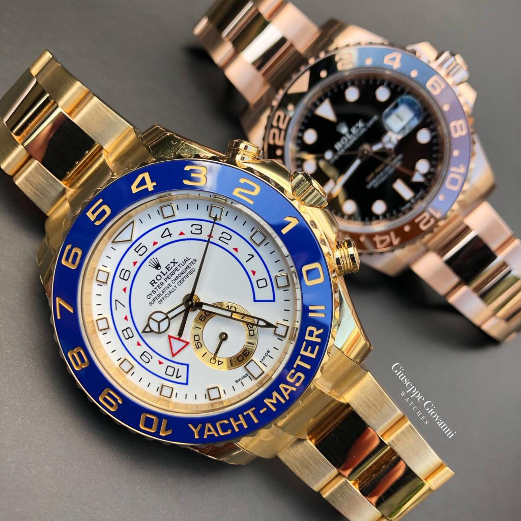 Rolex YachtMaster GMT EveroseGold YellowGold 126715CHNR 116688 Home