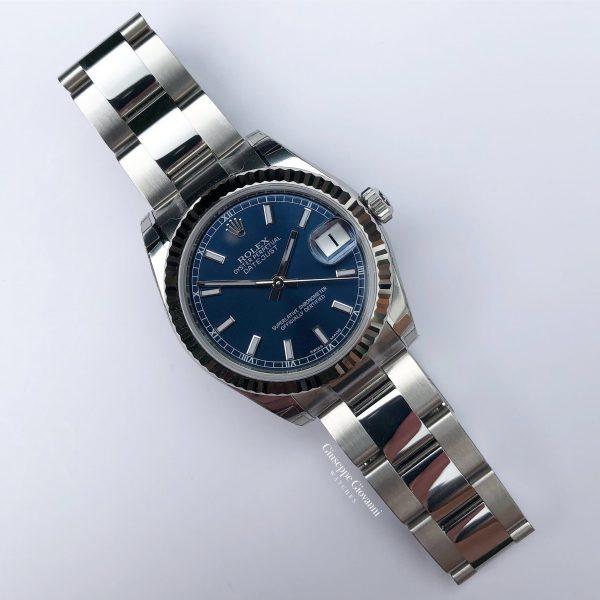 4 Rolex Date Just 31 178274 Blue Dial Oyster Steel Oyster Bracelet 2019