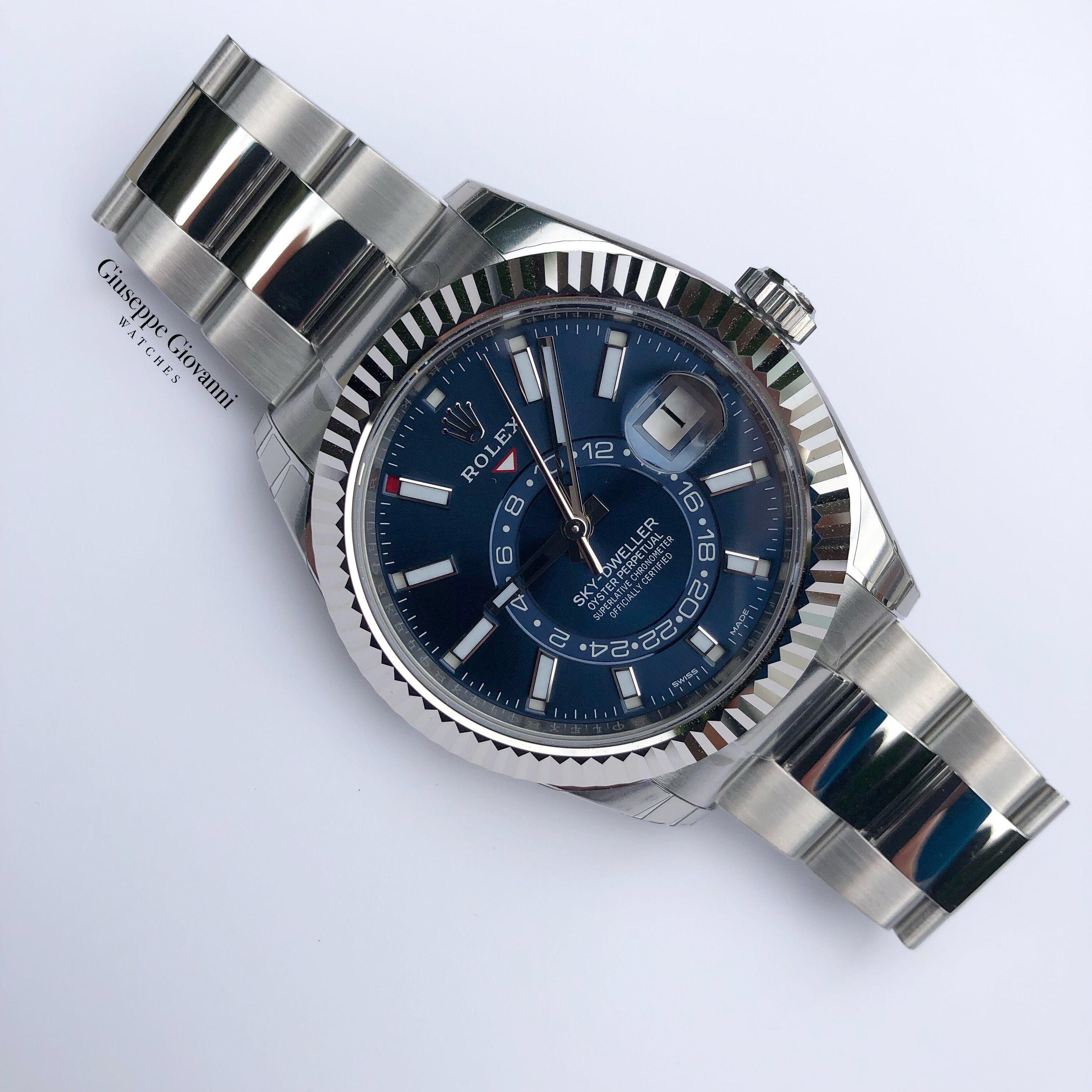 1 Rolex SkyDweller 326934 Blue Dial Oyster Bracelet 2019