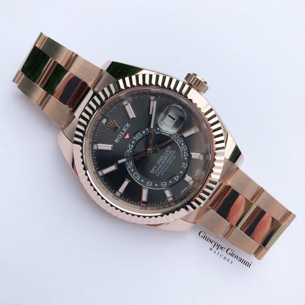 1 Rolex SkyDweller 326935 Rhodium Dial Oyster Bracelet Rose Gold 2019