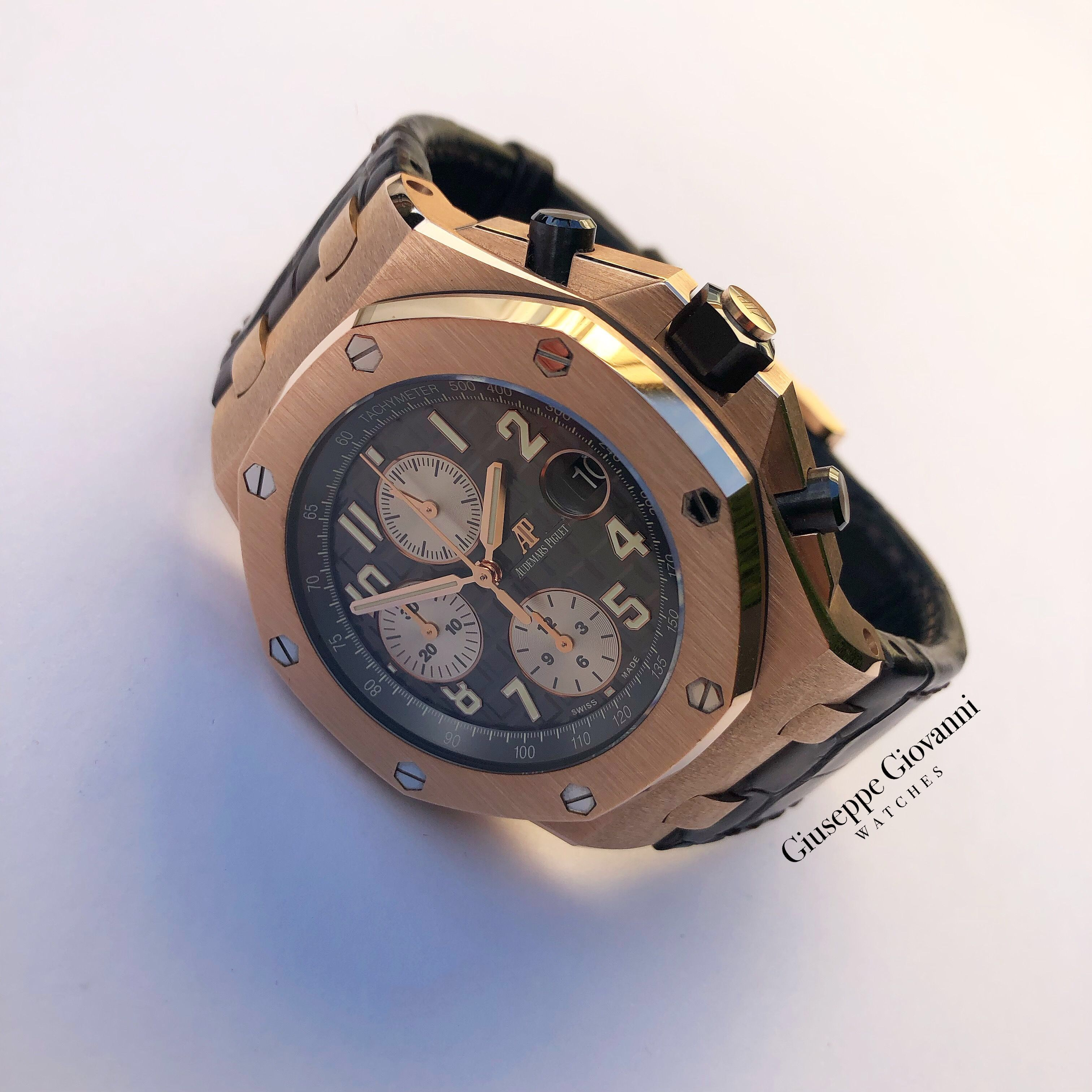 1 Royal Oak Offshore Chronograph Ref 26470OR.OO .A125CR.01 2018 Rose Gold Leather