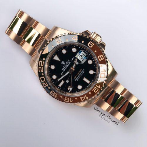 Rolex GMT 126715CHNR Everose Gold Oyster Bracelet Black Dial 2019 01