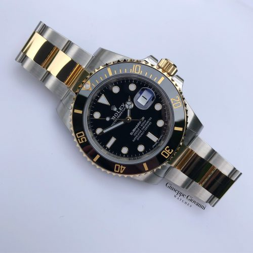 1 Rolex Submariner 116613LN Yellow Gold Oystersteel Oyster Bracelet Black Dial