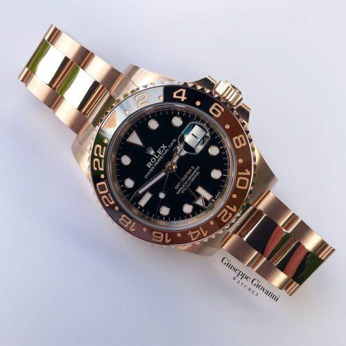 Rolex GMT 126715CHNR Everose Gold Oyster Bracelet Black Dial 2019 01 01