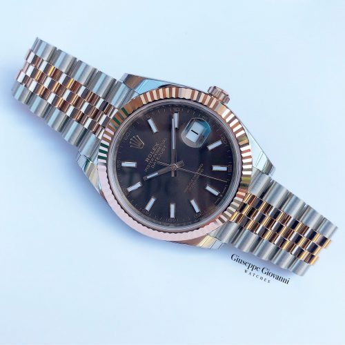 Rolex Date Just 41 126331 Oystersteel Everose Gold Chocolate Dial 2020 4