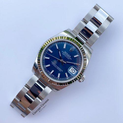 1 1 Rolex Date Just 31 178274 Blue Dial Oyster Steel Oyster Bracelet 2020