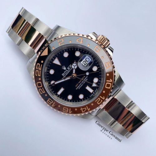 1 1 Rolex GMT 126711CHNR Everose Gold Oystersteel Oyster Bracelet Black Dial 2019