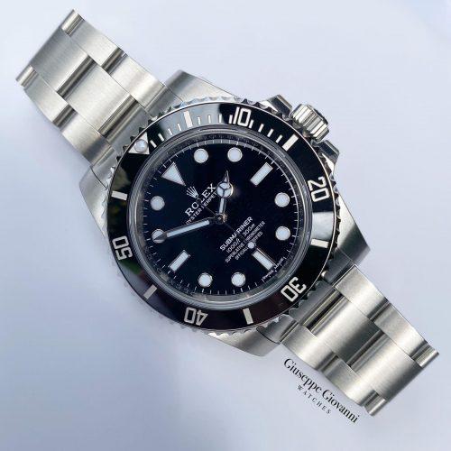 1 1 Rolex Submariner 114060 Oystersteel Black Dial Oyster Bracelet 2020
