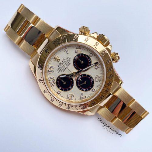 1 Rolex Daytona 116528 Oystersteel Yellow Gold Panda Dial Oyster Bracelet 2014