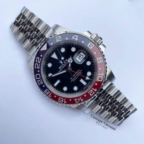 1 1 1 Rolex GMT Master 126710blro Oystersteel Jubilee Black Dial Pepsi Bezel 2020