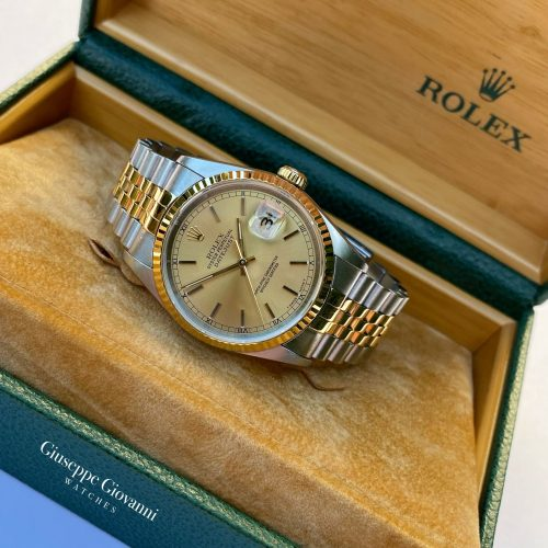 1 Rolex Date Just 36 16233 Yellow Gold Steel 1996