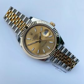 1 Rolex Date Just 41 126333 Yellow Gold Champagne Dial Jubilee Bracelet 2020