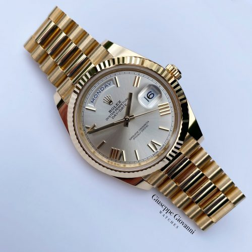 1 Rolex Day Date 40 228238 Yellow Gold Roman Numeral President Bracelet 2016